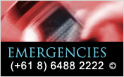 For emergencies, call (+61 8) 6488 2222